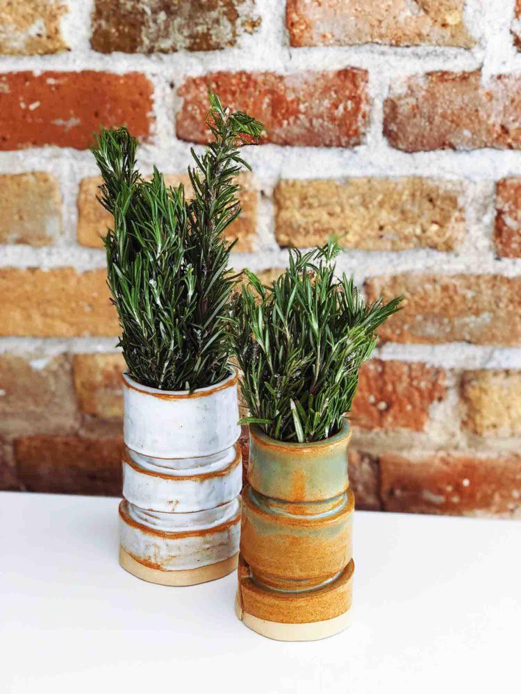 floreros de cerámica